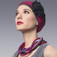 bandeau-femme-flore framboise taupe